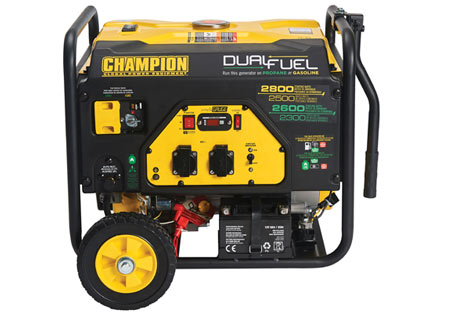 Champion 2800w Dual Fuel Elverk med el-start